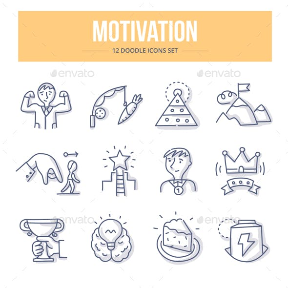 Motivation Doodle Icons