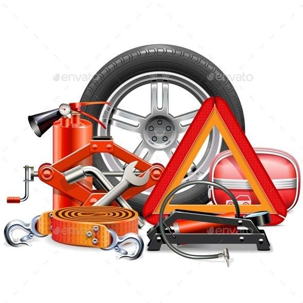 Vector Car Accessories Concept