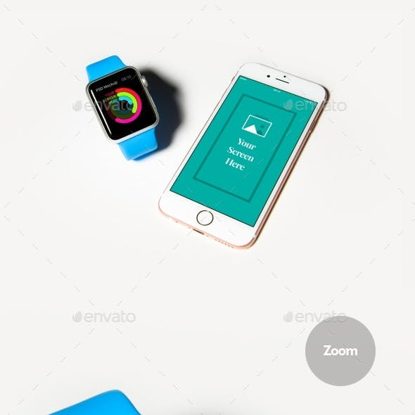 Phone & Watch Mockup