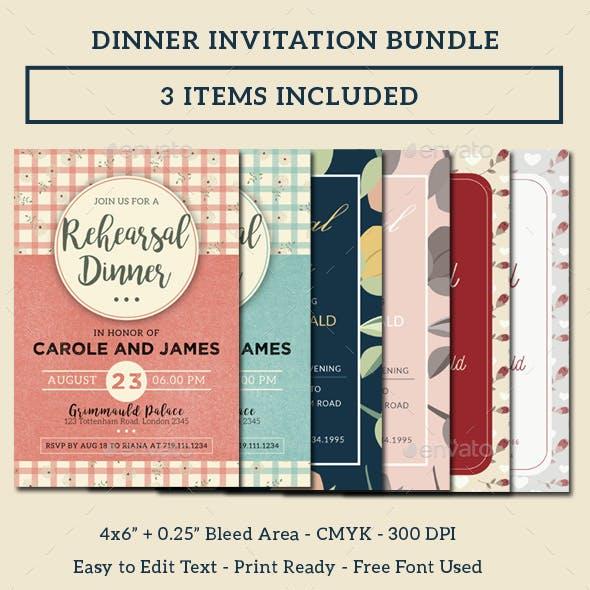 Dinner Invitation Bundle