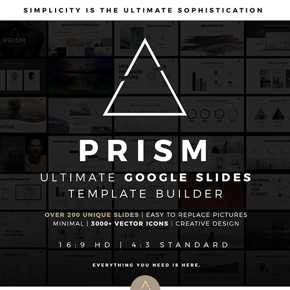 Prism Minimal Google Slides Template Builder