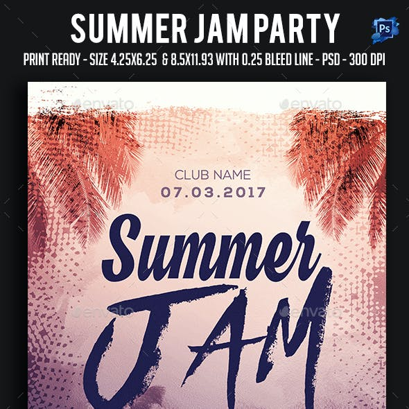 Summer Jam Party Flyer