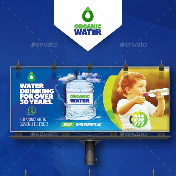 Drinking Water Service Billboard Templates
