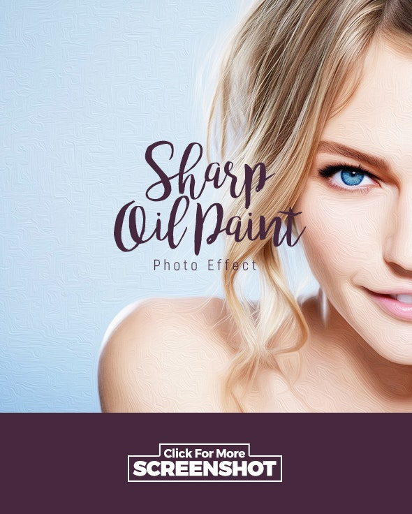 Sharp Oil Paint - Action - Photo Effects Actions