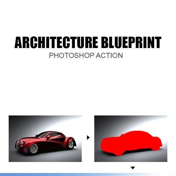 Architecture Blueprint - Photoshop Action #78