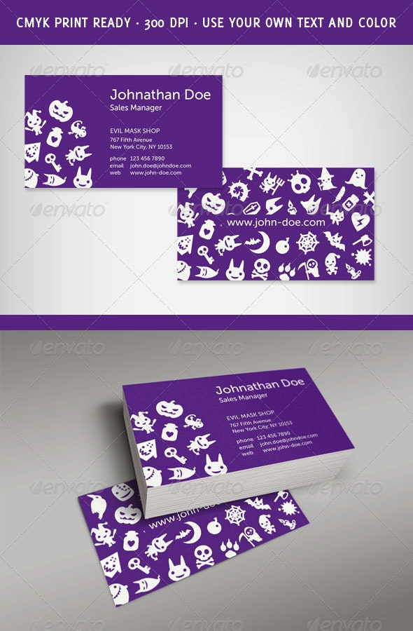 Fresh and Evil Business Card - Creative Business Cards