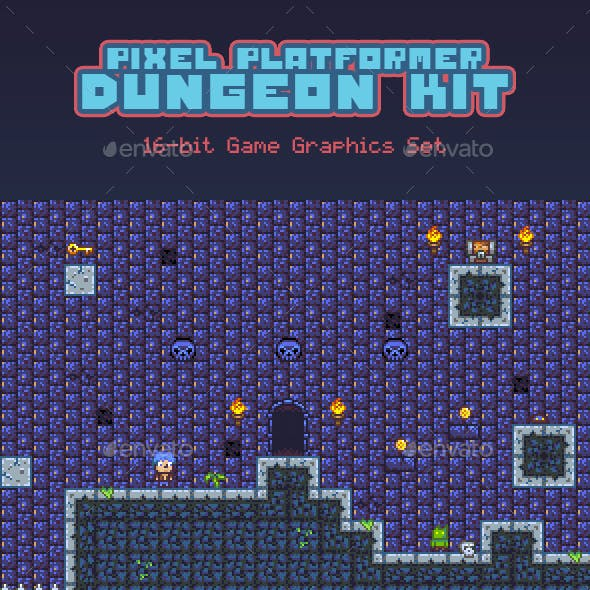 Pixel Platformer Dungeon Kit