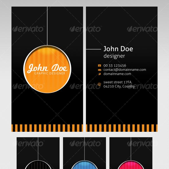 Retro business cards - 4 colors