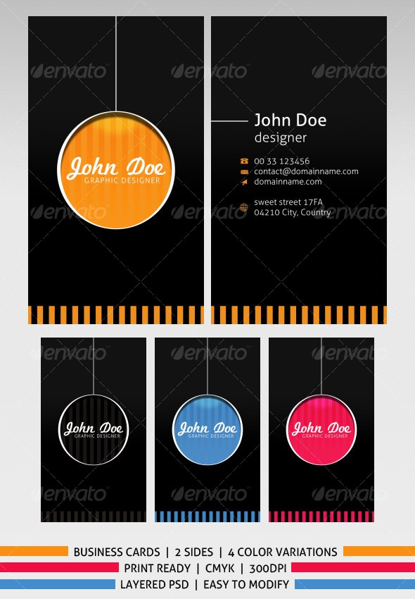 Retro business cards - 4 colors - Retro/Vintage Business Cards