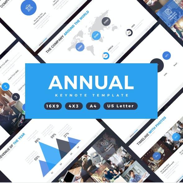 Annual Report Keynote Template