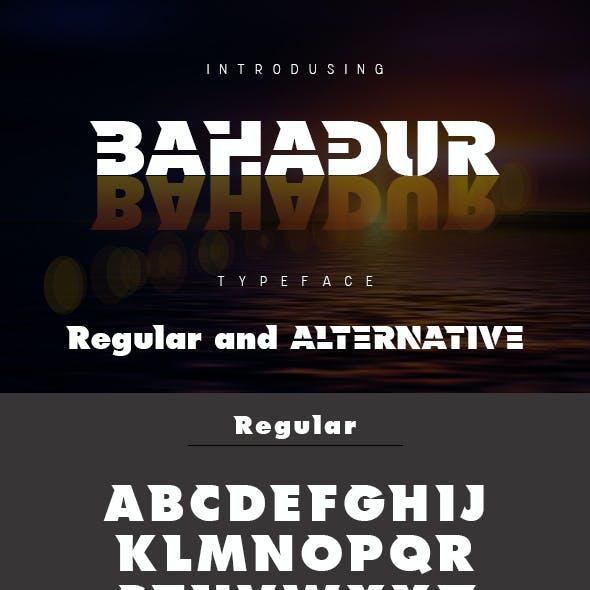 Bahadur Typeface