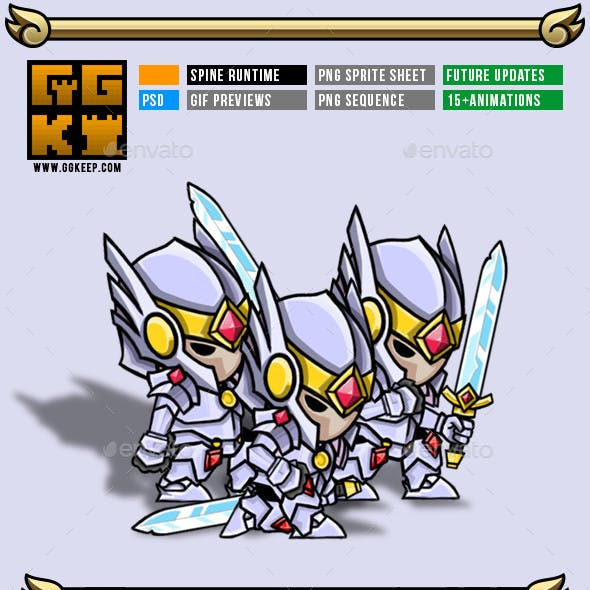 2D Game Character Knight #000