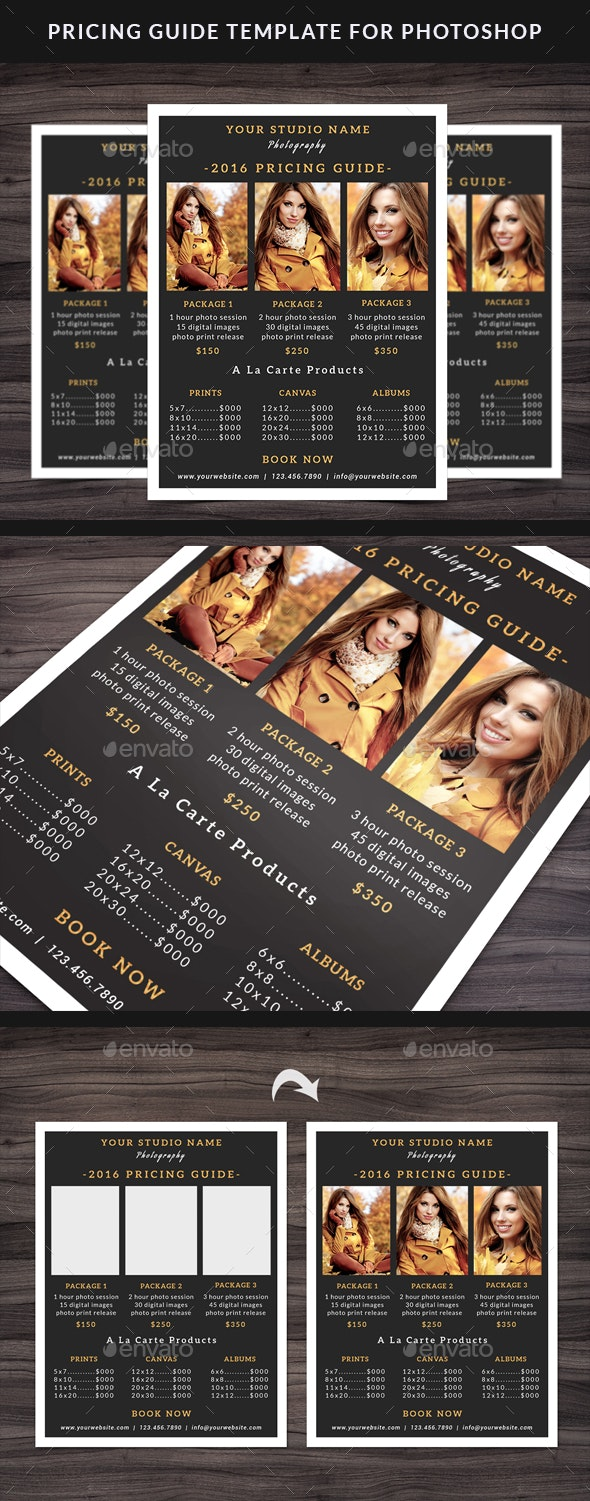 Photography Pricing Guide Template - Flyers Print Templates
