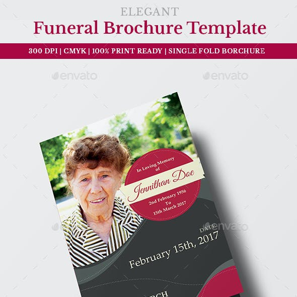 Funeral Program Brochure Template 05