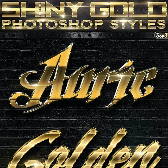 Shiny Gold Photoshop Styles 3of3