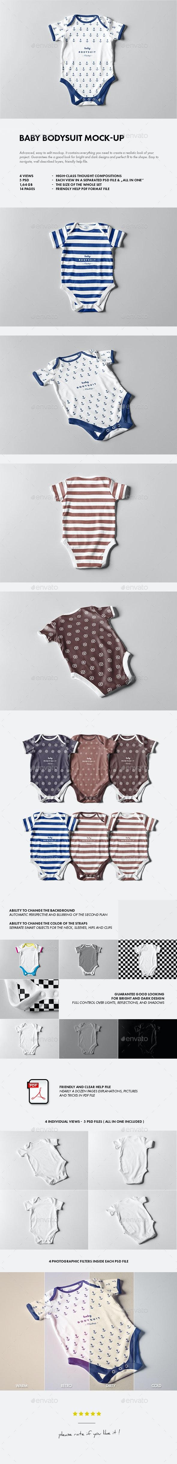 Baby Bodysuit Mock-up - Miscellaneous Apparel