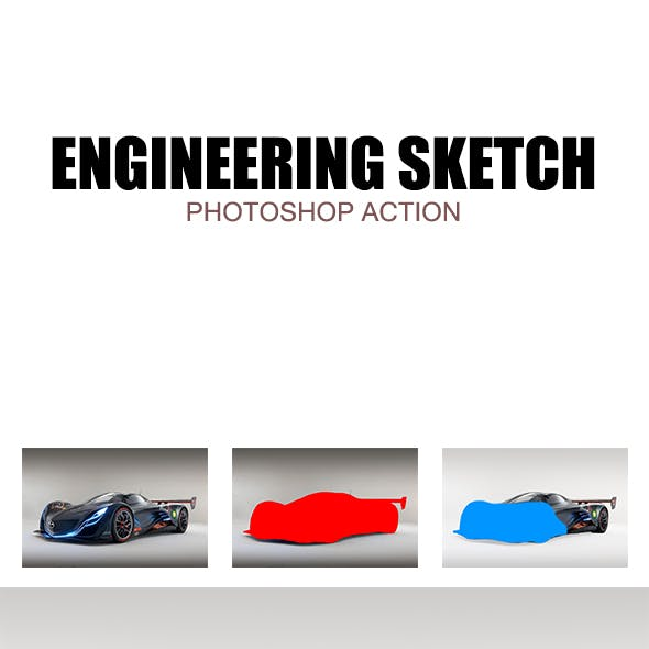 Engineering Sketch - Photoshop Action #77
