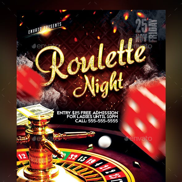 Roulette Night Flyer Template