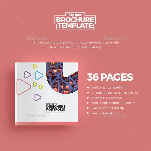 Square Portfolio Graphics Designs Templates From Graphicriver