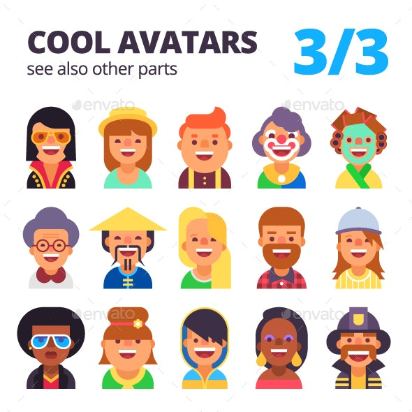 Set of Avatars Part 3/3 - People Characters