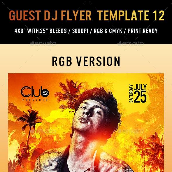 Guest DJ Flyer Template 12
