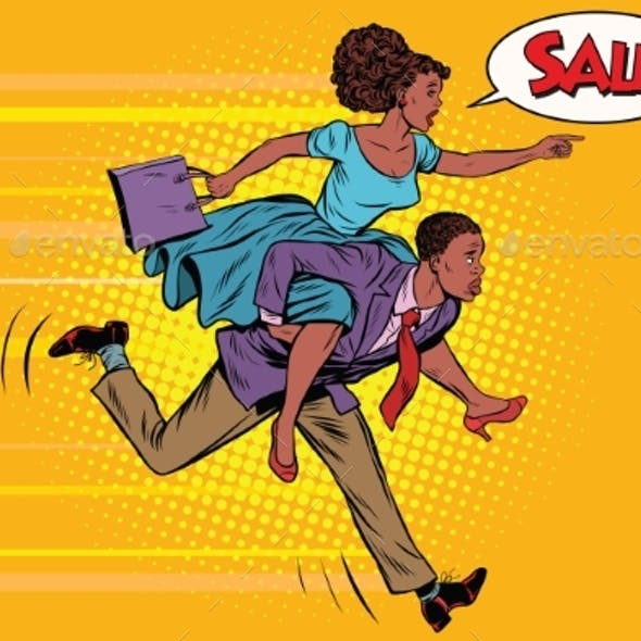 Wife Riding Husband Runs to Sale