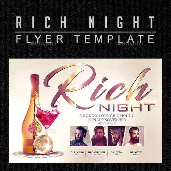 Rich Night Flyer Template