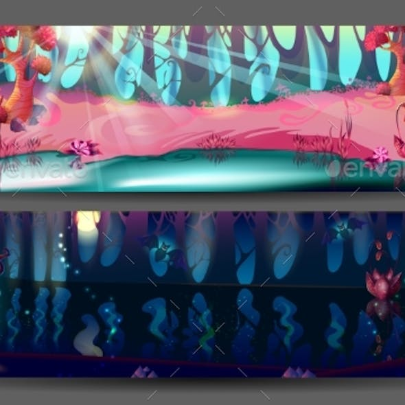 Enchanted Forest Horizontal Banners