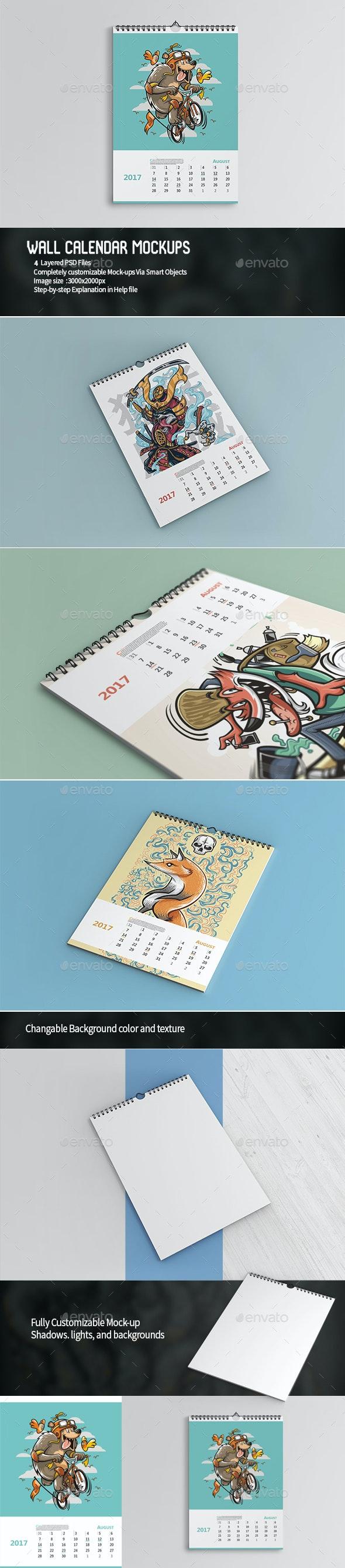 Wall Calendar Mockups - Miscellaneous Print