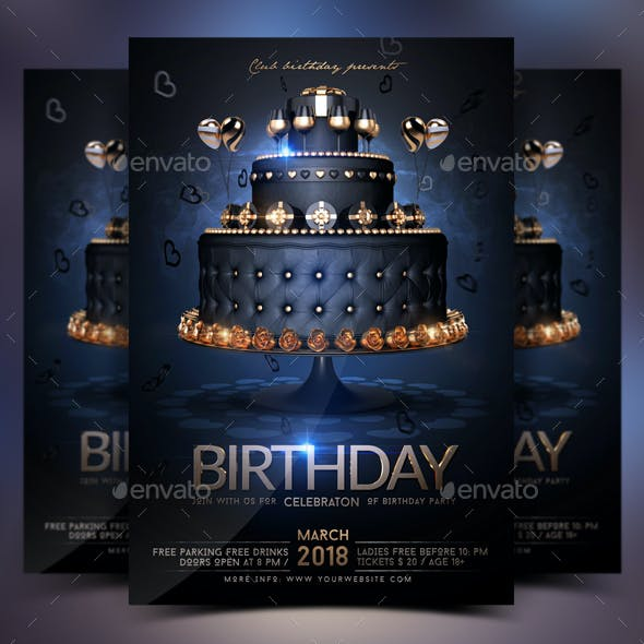 Birthday Celebration Vip Flyer