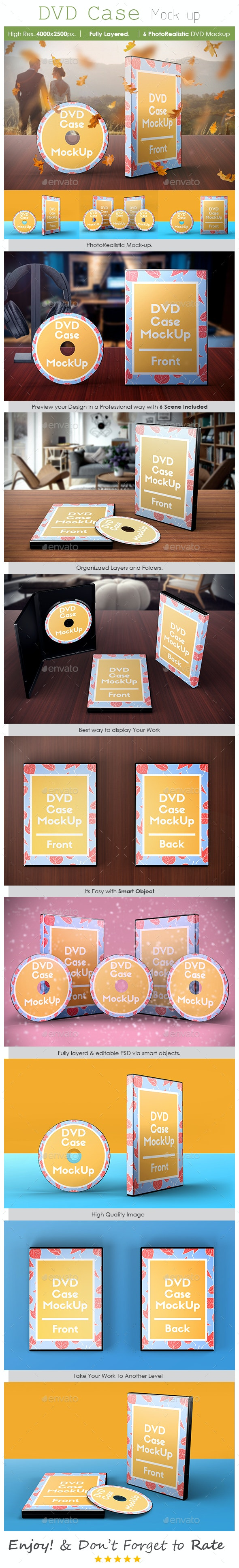 DVD Case Mockup - Product Mock-Ups Graphics