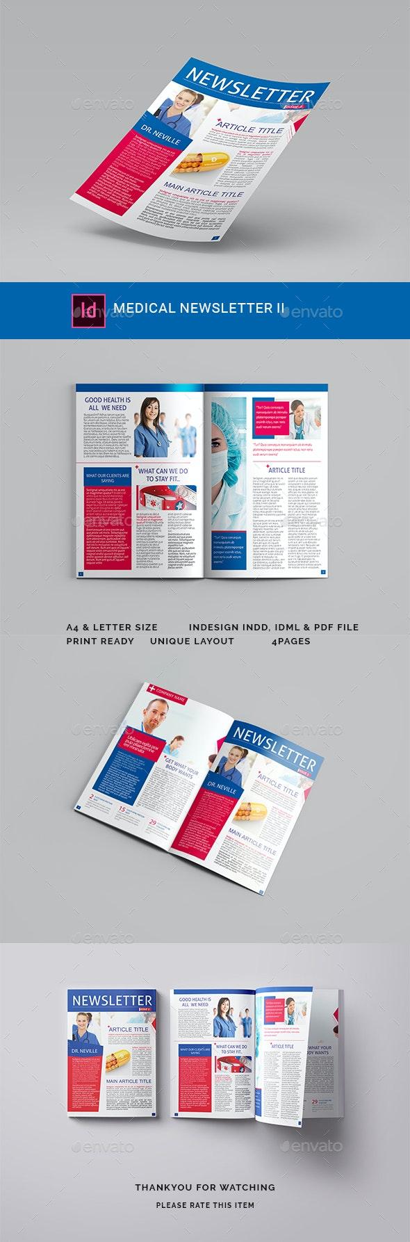Medical Newsletter II - Newsletters Print Templates