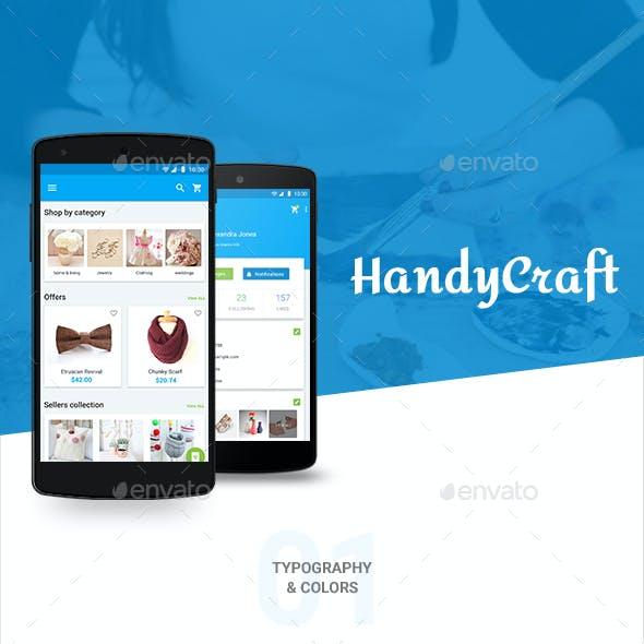 HandyCraft Shop Material UI kit