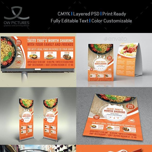 Restaurant Advertising Bundle Template Vol.14