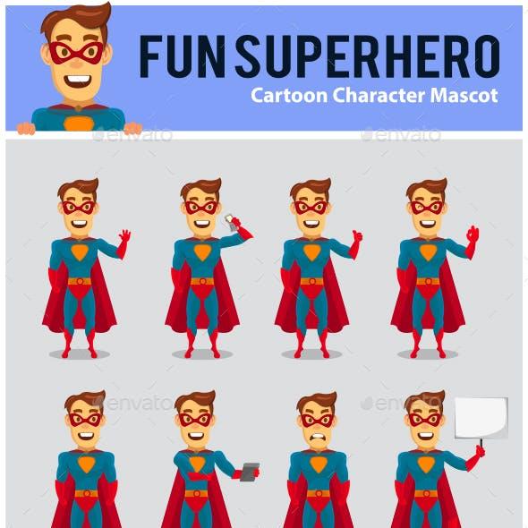 Superhero Cartoon Mascot