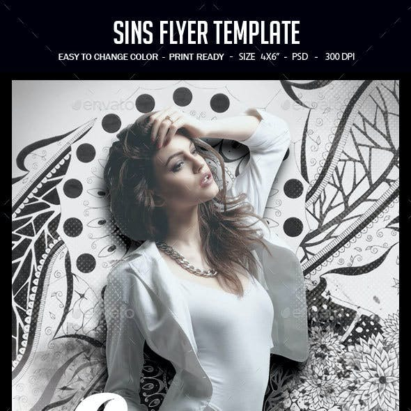 Sins Flyer Template