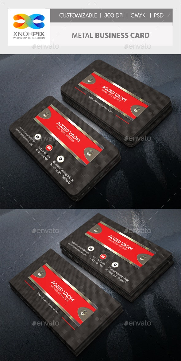 Metal Business Card - Creative Business Cards
