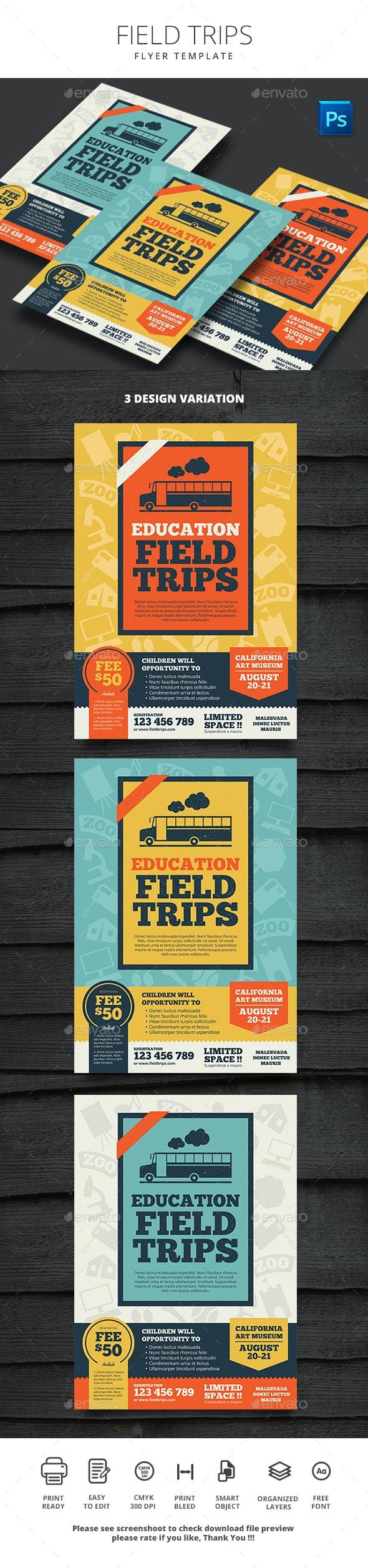 Field Trips - Flyers Print Templates