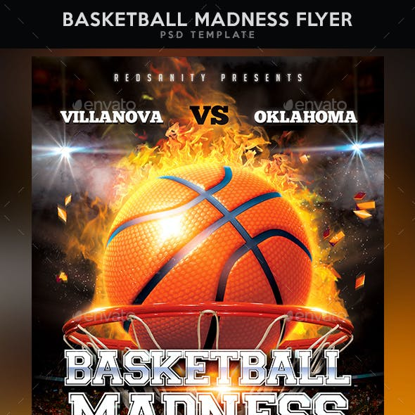 Basketball Madness Flyer