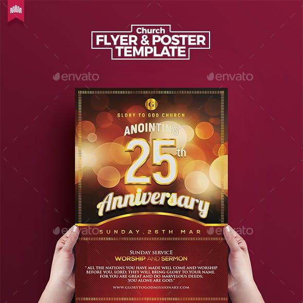 Church Anniversary - Flyer Template