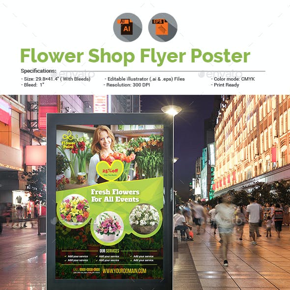 Flower Shop Poster Template