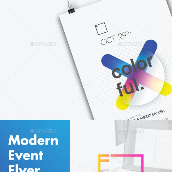 Modern Flyer Colorful