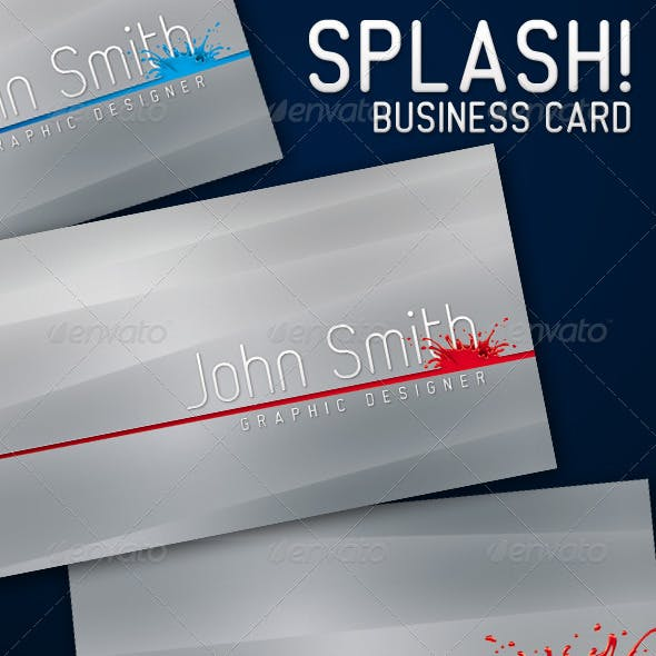 Splash Business Card