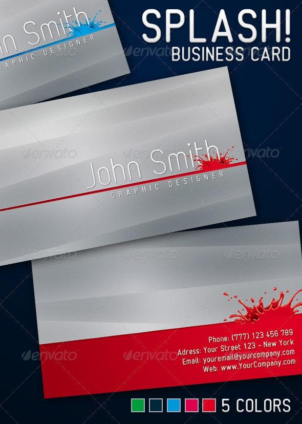 Splash Business Card - Corporate Business Cards
