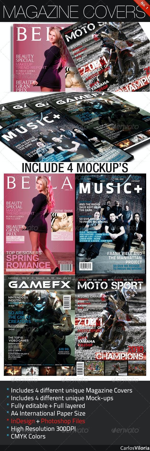 Magazine Covers No. 1 - Magazines Print Templates