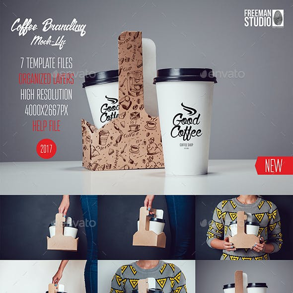 Coffee Branding Mock-Up Vol.4