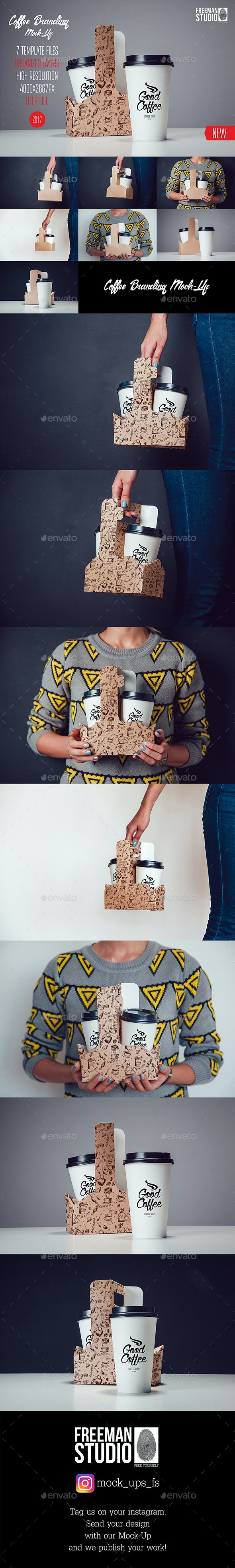 Coffee Branding Mock-Up Vol.4 - Product Mock-Ups Graphics