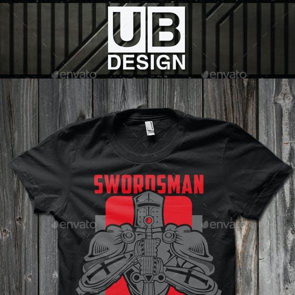 Swordsman T-shirt Template