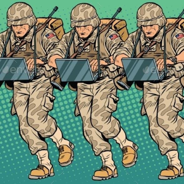 Squad Modern Cyber Soldier