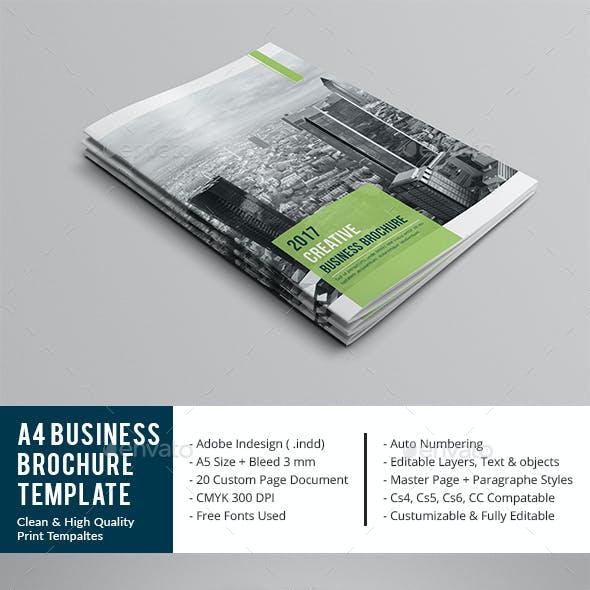 A4 Business Brochure Template